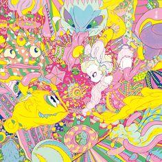 15 Illustrations That Show The Beauty Of Female Innocence - Design Art And Illustration, Illustrations, Candy Girls, Kunst Inspo, Art Inspo, Art Pop, Psychedelic Art, Yoshitaka Amano, Graffiti