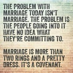 Marriage is more than two rings and a pretty dress.