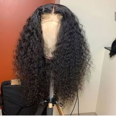 Sistershairstyle Pre Plucked Curly Human Hair Wigs For Women Transparent HD Human Hair Wig With Baby Baddie Hairstyles, Curled Hairstyles, Weave Hairstyles, Fashion Hairstyles, Lace Front Wigs, Lace Wigs, Pelo Afro, Hair Laid, Wig Styles