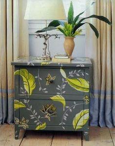 mobilya boyama ornekleri dolap sifonyer komidin masa kapi geometrik cicekli etnik desenler (2)