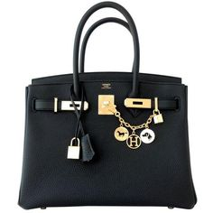 Preowned Hermes Black 30cm Birkin Togo Gold Hardware Ghw Bag Tote Most... (£15,480) ❤ liked on Polyvore featuring bags, handbags, bolsas, purses, black, hermes purse, handbags totes, hand bags, leather tote purse and leather purse