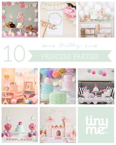 10 Pretty Princess Parties ~ gorgeous photos from some of the most amazing birthday parties, fit for any little princess.