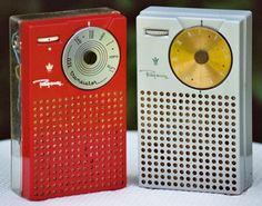 Transister Radios.  Wow, I would listen to mine while riding my banana bike.  Mine was black.  Thought I was so cool!