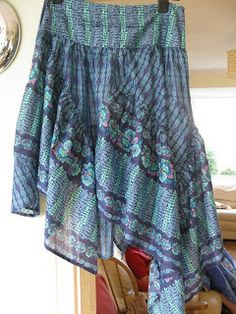 ragbags and gladrags - Made by the Sea: Broom Skirt Refashioned