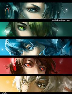 Social Networks in Anime form made by John-Lock on Tumblr and Deviant Art