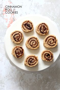 Vegan Cinnamon Roll Cookies. Soft shortbread like cookie dough dusted with cinnamon sugar, rolled, sliced and baked. Refined Oil-free Vegan Recipe. Nutfree option