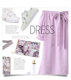 """""""I Got You"""" by sonny-m ❤ liked on Polyvore featuring Ted Baker, Puma, Boohoo, Winky Lux and offshoulderdress"""