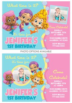 Bubble Guppies Birthday Invite  Available by CelebrationsByLulu,