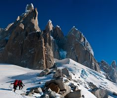 #Mammut Pro Team athletes Dani Arnold and Stephan Siegrist in Patagonia.