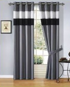Black and Grey Living Room Curtains. 20 Black and Grey Living Room Curtains. Curtains Living Room by Clare Ruhweza On Curtains Home Curtains, Curtains Living, Modern Curtains, Curtains With Blinds, Window Curtains, Grommet Curtains, Drapery, Black And Grey Curtains, Home Organization