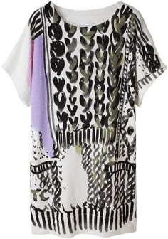 TSUMORI CHISATO   PRINTED SWEATSHIRT DRESS