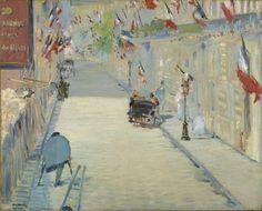 Édouard Manet – La rue Mosnier aux drapeaux (1878)