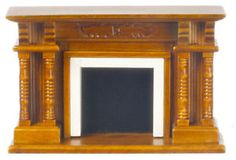 1:48 Scale Fireplace and mirror Walnut Top Quality 1/48 dollhouse ...
