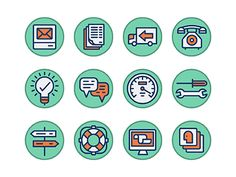 Some icons we recently created as part of a style exploration.