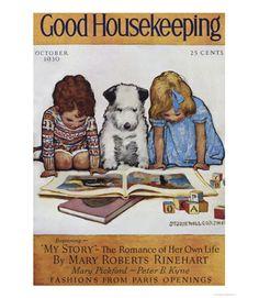 Good Housekeeping magazine cover, October 1930 Jessie Willcox Smith