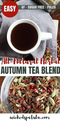 DIY Autumn Herbal Tea Blend - Tastes like fall in a cup!- DIY Autumn Herbal Tea Blend – Tastes like fall in a cup! Also perfect for a homemade gift! Source by wickedspatula - Herbal Tea Benefits, Best Herbal Tea, Best Tea, Herbal Teas, Autumn Tea, Diy Autumn, Fall, Homemade Tea, Christmas Tea