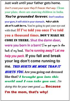 momisms - Google Search