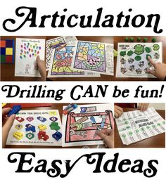 Easy ideas for articulation drilling + freebies