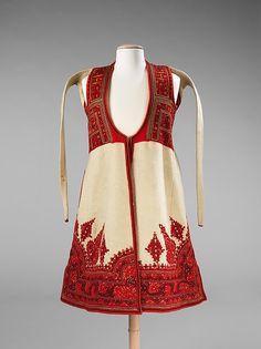 Coat 1890–1910 Culture: Albanian Medium: wool, metal, silk Dimensions: Length at CB: 39 in. (99.1 cm)