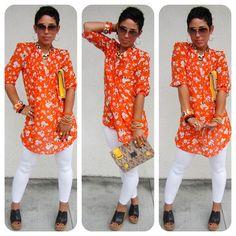 Mimi g style today s look orange florals www mimigstyle com mimi