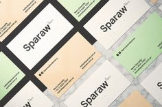 Designed by Buenos Ares-based this fresh branding and packaging concept is perfect for Sparaw, a juice and vegan food brand. Graphic Design Branding, Identity Design, Logo Design, Brand Packaging, Packaging Design, Environmentally Friendly Packaging, Pastel Colour Palette, Cold Pressed Juice, Modern Typography