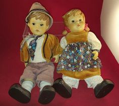 Vintage Porcelain pair of dolls Hansel & Gretel by OUMLET by FromDECOtoDISCO on Etsy