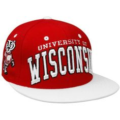 f8f88837ba665 Zephyr Wisconsin Badgers Cardinal-White Superstar Snapback Adjustable Hat  Zephyr.  21.95. Save 12%!