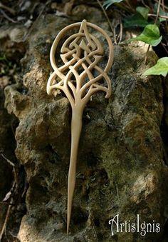Celtic Symbols, Celtic Art, Celtic Knots, Art Nouveau, Celtic Tree Of Life, Bone Carving, Celtic Designs, Hair Sticks, Hair Ornaments