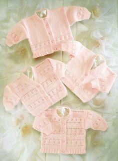 baby cardigan vintage knitting pattern PDF instant by Ellisadine