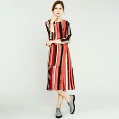 Traditional British tailoring is celebrated this season as Paul Smith shines a spotlight on elegant women's tailoring with a signature twist. Red S, Lady In Red, Office Looks, Elegant Woman, Paul Smith, Designer Collection, Designing Women, Wrap Dress, Short Sleeve Dresses