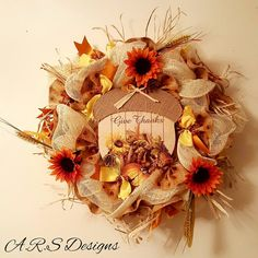 Swanky Wreath Design To Give Thanks