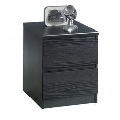 A bedroom isn't complete without a nightstand and bedside table. We have a super selection of painted, metal and oak nightstand in a variety of heights, styles and finishes. Black Nightstand, 2 Drawer Nightstand, Condo, Metal Drawers, Black Wood, Wood Grain, Cleaning Wipes, Storage Spaces, Bedroom Furniture