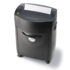 Micro-Cut Paper Shredder Shreds 5 Pages in a Single Pass. Accepts staples and credit cards. Shreds CD''s and DVD''s. All steel gears. Pullout wastebasket. Console with locking casters.