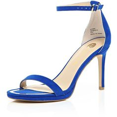 View Product Description                Open toe Buckle fastened ankle strap Barely-there design Slim stiletto heel Heel height 9cm         Hide Product Descri…
