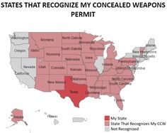 Concealed Carry Reciprocity Map - Shooting Ranges Near Me