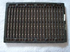 Vintage IBM Backplane from IBM Water Cooled Mainframe. Dated 1974 Gold Plate Bus