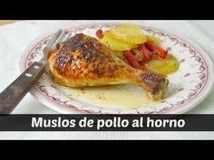 Muslos de pollo al horno con patatas   Cuuking! Recetas de cocina