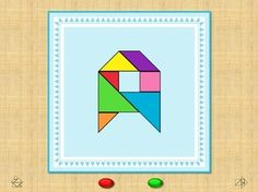 Digibordles / Digibord / PowerPoint Flash Cards. This activity contains an interactive slide show. It's a fun way of learning the alphabet (Upper Case & Tangram Shapes).     Tangram Alfabet Letters - Flits kaarten. Klik op de groene knoppen om te wisselen tussen de letter en de tangram puzzel.