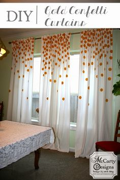 McCarty Adventures: DIY Gold Confetti Curtains