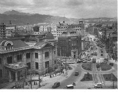 1960 Myung Dong Rotary in Seoul, Korea. 1960년 명동 로타리