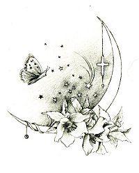 37 Ideas For Tattoo Moon Flower Birds Name Tattoos, Star Tattoos, Leg Tattoos, Body Art Tattoos, Tatoos, Tattoo Ribs, Moon Tattoo Designs, Flower Tattoo Designs, Flower Tattoos