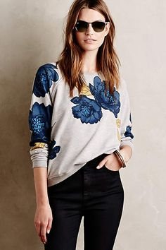 Emblazoned Blooms Sweatshirt - anthropologie.com