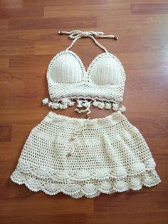 Crochet Lingerie, Crochet Bikini, Crochet Tank Tops, Knit Crochet, Crochet Bathing Suits, Ibiza Fashion, Crochet Baby Clothes, Crochet Woman, Crochet Fashion