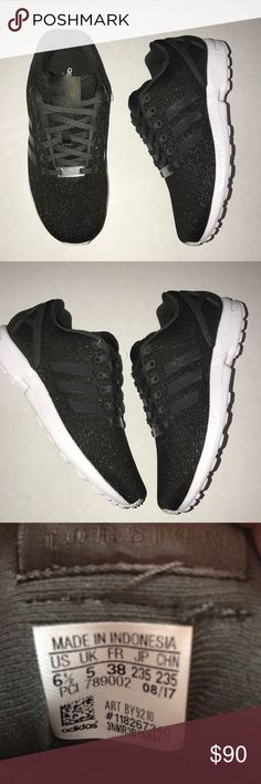 new product 33fdb 29a50 Adidas Torsion Glitter ZX Flux Trainers Super comfortable sneakers.  Official color is Glitter Black and