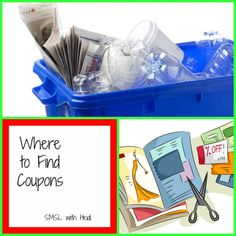 Where to find coupons - http://smslwithheidi.com/2011/10/where-to-find-coupons.html