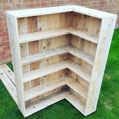 pallet corner shelf idea