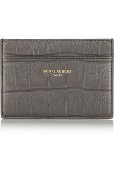 Saint Laurent gray card holder
