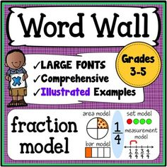 Math Word Wall Grades 3-5: This math word wall resource includes 303 vocabulary words, phrases, and concepts. This is a great way to integrate reading into other areas of the curriculum