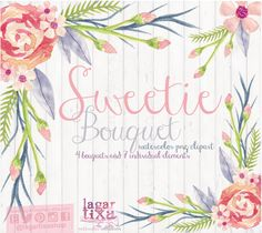 A personal favorite from my Etsy shop https://www.etsy.com/es/listing/228863170/watercolor-floral-clipart-png-wedding