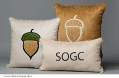 Hair on Hide Pillows | Libby Bunting's Monogram Pillow Design I Custom Monogram